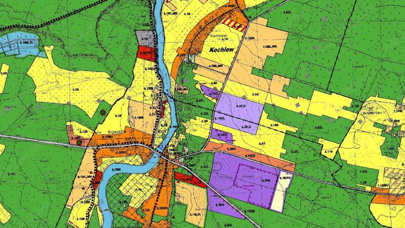 Grafika dla mapy: Gminne miejscowe plany zagospodarowania przestrzennego