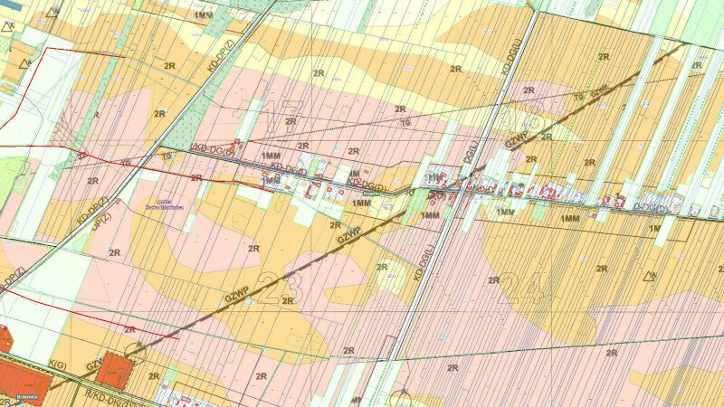 Grafika dla grupy map: Rolnictwo
