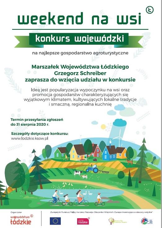 plakat promujący konkurs weekend na wsi