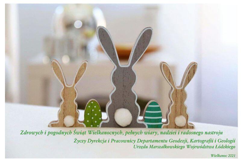 grafika zawiera życzenia z okazji świąt Wielkanocnych