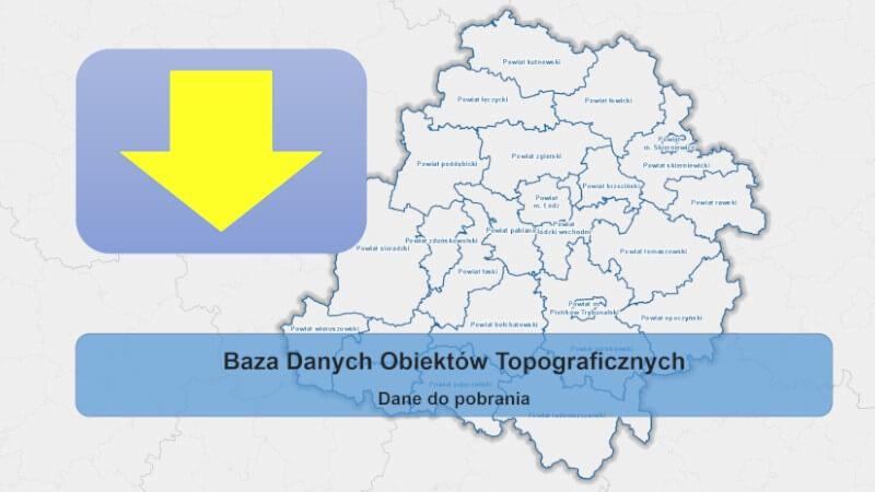 Grafika dla mapy: Do pobrania BDOT10k