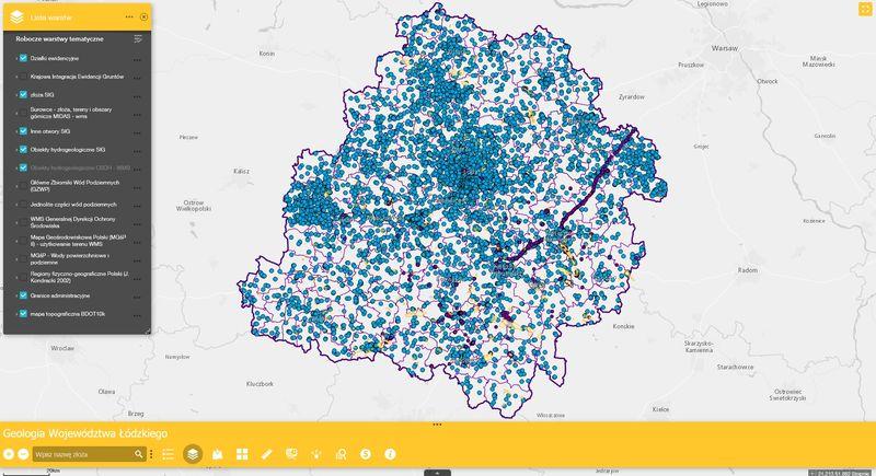 Grafika dla mapy: Geologia Województwa Łódzkiego